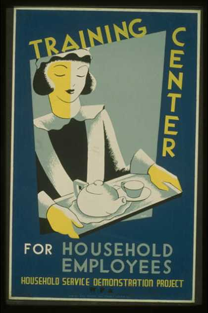 Training center for household employees – Household Service Demonstration Project, W.P.A. / Cleo.