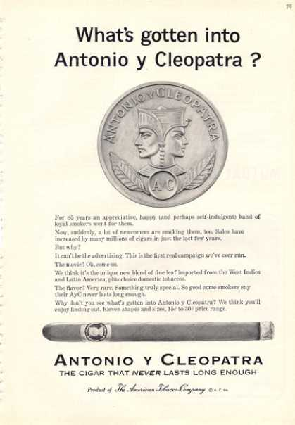 Antonio Y Cleopatra Grenadier Cigar Box (1964)