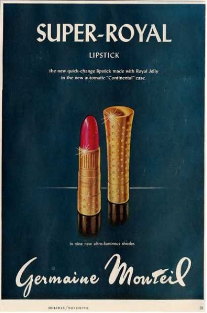 Germaine Monteil Super Royal Lipstick Ad T (1958)