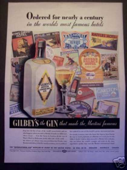 Famous Hotels Gilbey's Gin (1940)
