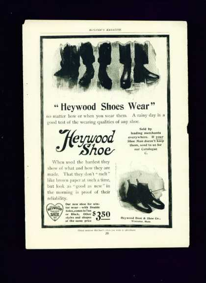 Heywood Shoe C Ad – Heywood Shoes Wear (1910)