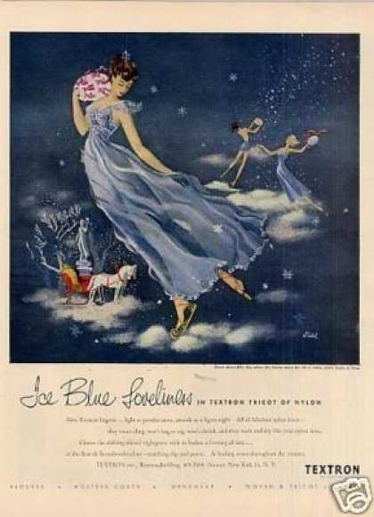 "Textron Lingerie Ad ""Ice Blue Loveliness... (1948)"