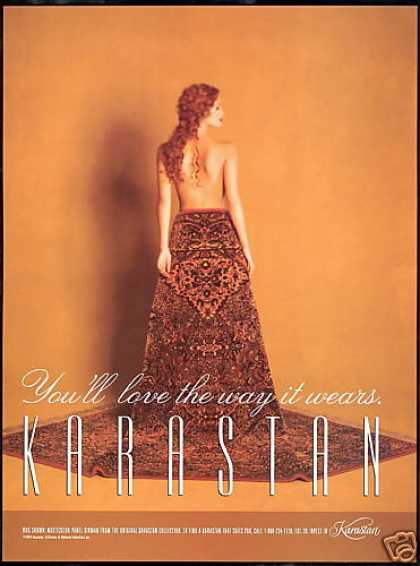 Karastan Rug Carpet Topless Redhead Woman (1995)