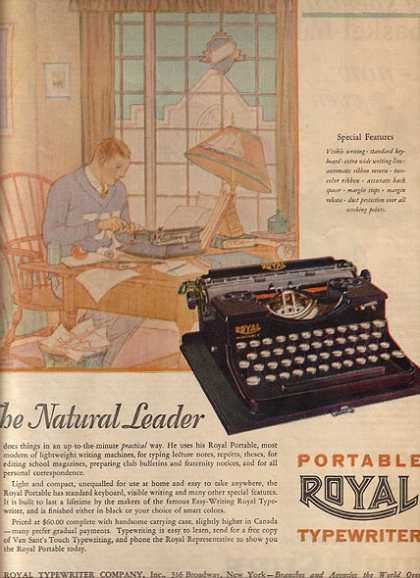 Royal (Portable Typewriter) (1927)