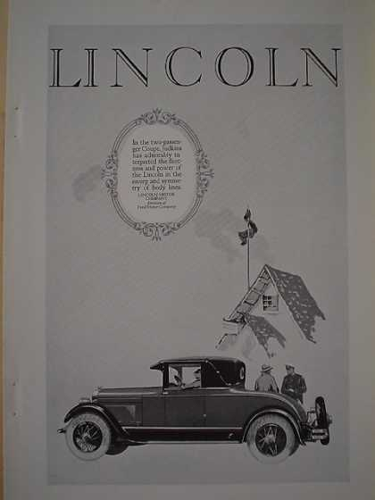 Lincoln Motor Company Div of Ford Judkins Coupe (1926)