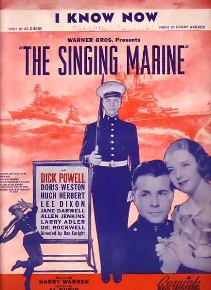 I Know Now Sheet Music The Singing Marine (1937)
