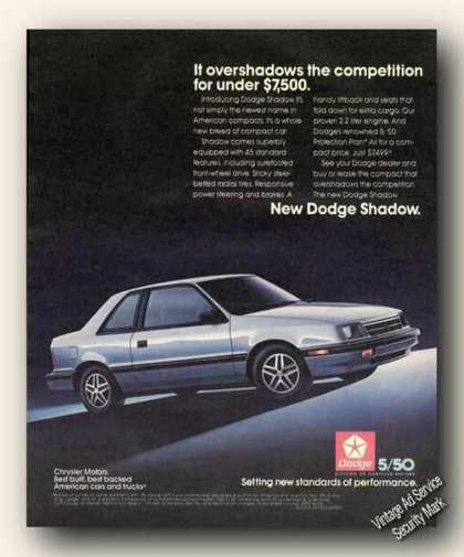 New Dodge Shadow Nice Color (1987)