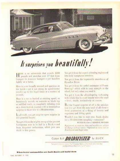 Buick Roadmaster Car – It surprises you (1952)