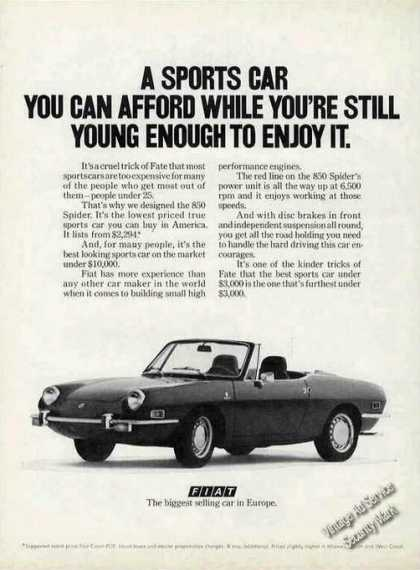Fiat 850 Spider While Youre Still Young Enough (1972)