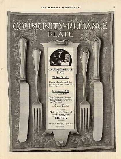 Community Plate Ad Exeter/la Rose Patterns (1914)