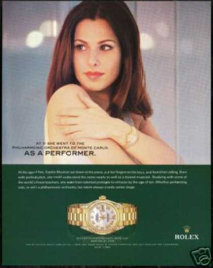 Pianist Sophie Mautner Photo Print Rolex Watch (2006)