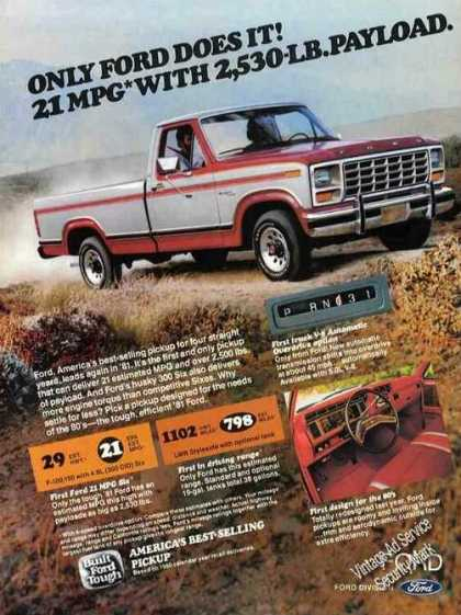 Ford Pickup Truck Photos (1981)