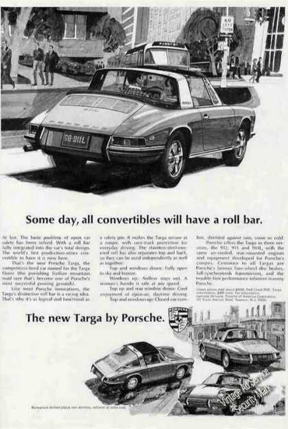 New Targa By Porsche Drawings Car (1968)
