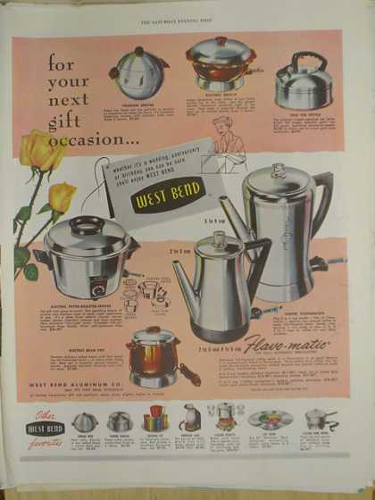 West Bend kitchen appliances (1952)