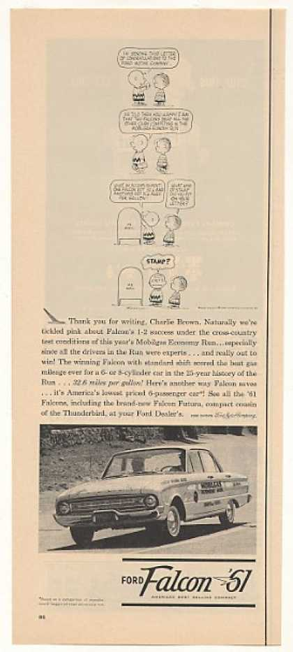 Ford Falcon Mobilgas Economy Run Charlie Brown (1961)