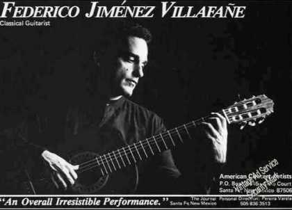Federico Jimenez Villafane Photo Guitar Booking (1986)