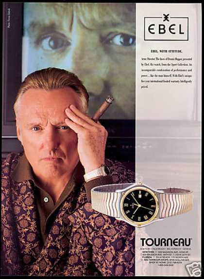 Dennis Hopper Photo Ebel Watch Tourneau (1992)