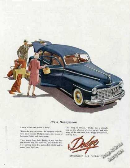 """Dodge """"Its a Honeymoon"""" Collectible Car (1947)"""