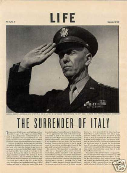 """The Surrender of Italy"" Article (1943)"