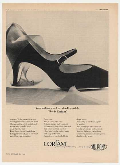 DuPont Du Pont Corfam Shoe Material (1965)