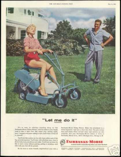 Fairbanks Morse Lawn Mower Vintage Photo (1955)