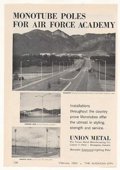 Air Force Academy Union Metal Light Poles Photo (1960)