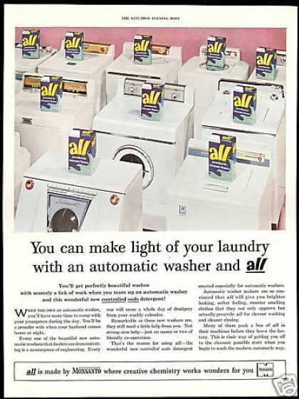 All Washing Machine Detergent Monsanto (1954)