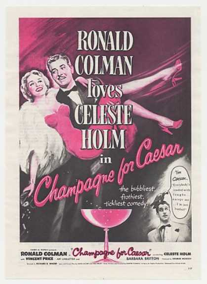 Ronald Colman Champagne for Caesar Movie (1950)