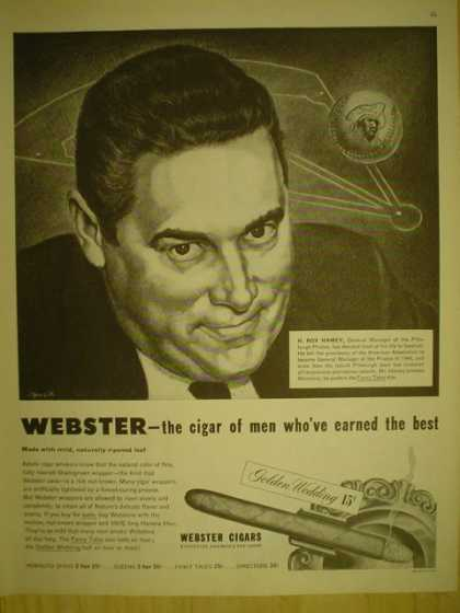 Webster Cigars. Golden Wedding. H Roy Hamey (1949)