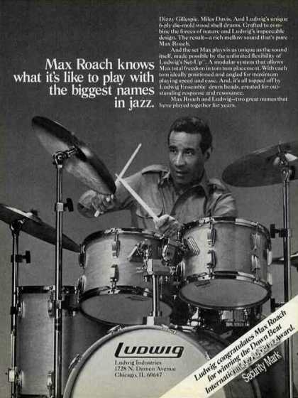 Max Roach Photo Jazz Ludwig Drums (1981)