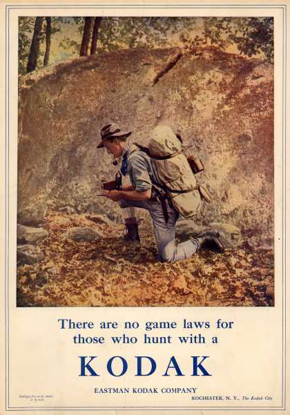 Kodak – There are no game laws for those who hunt with a Kodak (1909)