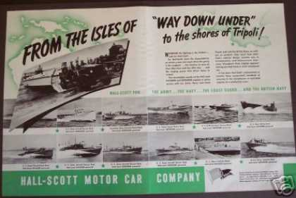Hall-scott Motors Army Navy Coast Guard Boats (1943)