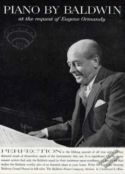 Nice Photo of Eugene Ormandy Baldwin Piano (1961)