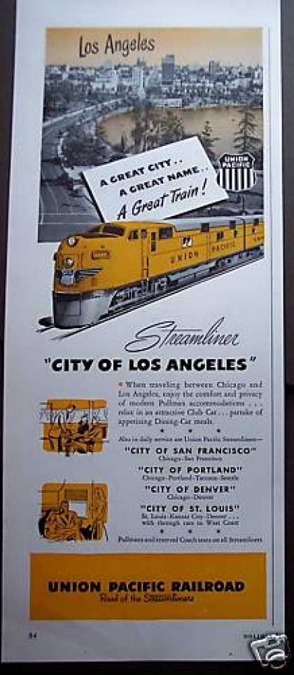 """City of Los Angeles"" Union Pacific Train (1949)"