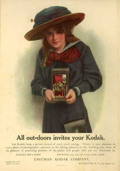 Kodak – All out-doors invites your Kodak (1911)
