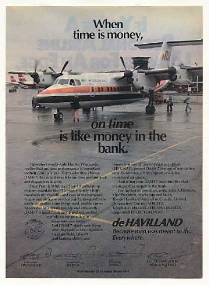 Air Wisconsin de Havilland DASH 7 Plane Photo (1982)