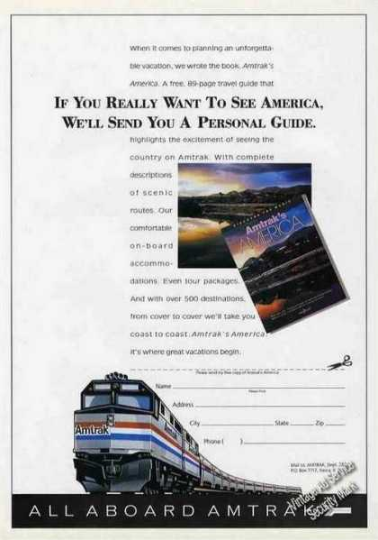 All Aboard Amtrak Vacations Promo (1991)