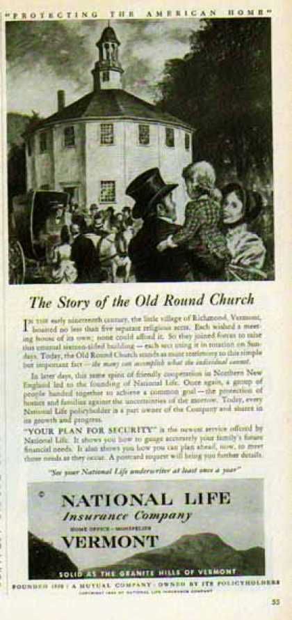 National Life Insurance Co. – Old Round Church (1949)