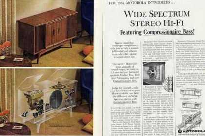 Motorola Wide Spectrum Stereo Hi-fi Photos (1964)