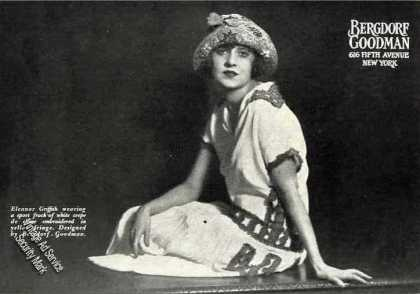 Eleanor Griffith Photo Bergdorf Goodman Fashion (1924)