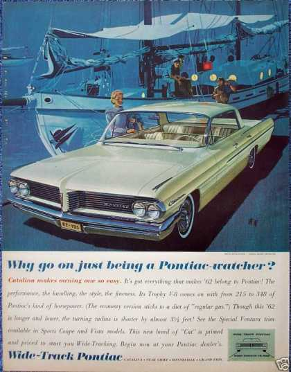 Pontiac Catalina Boat Dock Night Lights Evening (1962)