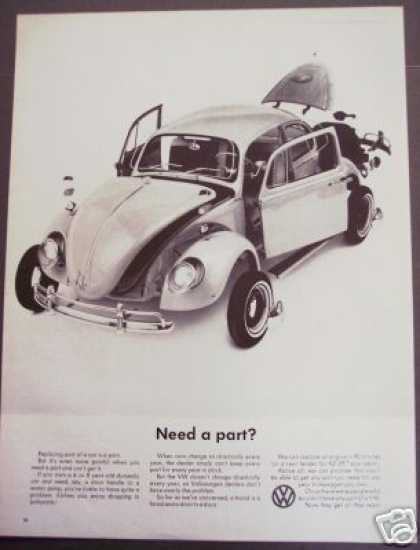Vw Volkswagen Bug Parts Car Photo (1966)