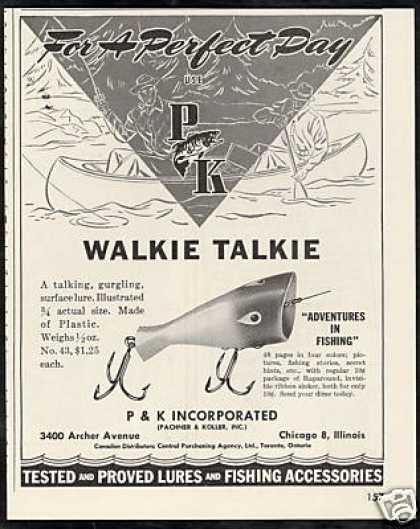 P&K Pachner Koller Walkie Talkie Fishing Lure (1947)