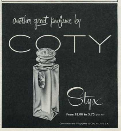 Coty Styx Perfume Bottle (1952)