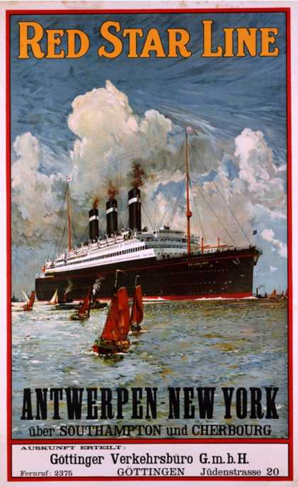 Red Star Line, Antwerpen-New York (1910)
