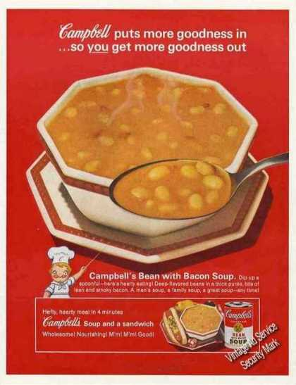 Campbell's Bean With Bacon Soup Large (1962)