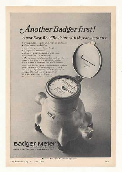 Badger Easy-Read Register Water Meter (1967)