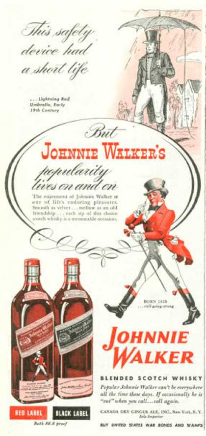 Johnnie Walker Scotch Whisky Red Black (1945)