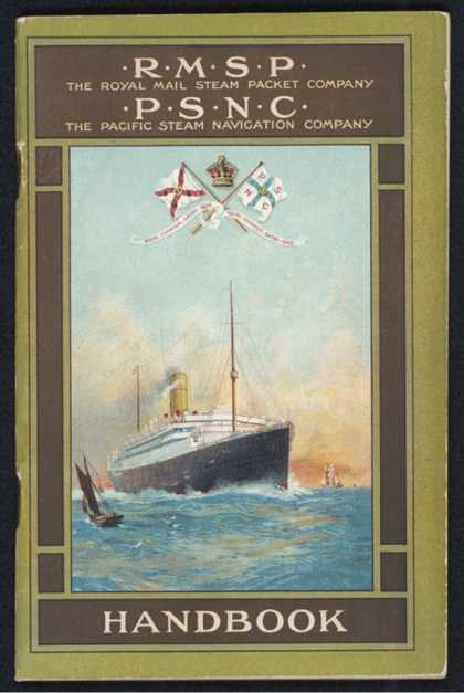 Brochure for the Royal Mail Steam Packet Company and the Pacific Steam Navigation Company