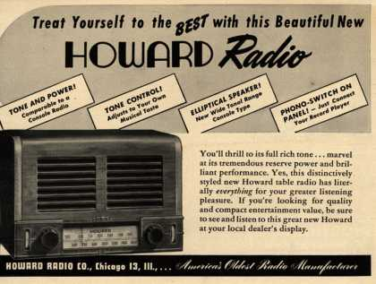 Howard Radio Company&#8217;s Radio &#8211; Treat Yourself to the Best with this Beautiful New Howard Radio (1947)